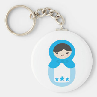 Matryoshka Doll - Sweet Blue Keychain