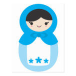 Matryoshka Doll - Sweet Blue Post Cards