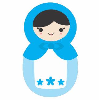 Matryoshka Doll - Sweet Blue Statuette