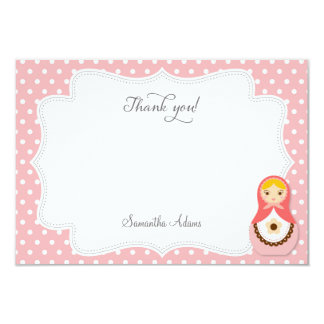 Matryoshka Doll Thank You Card