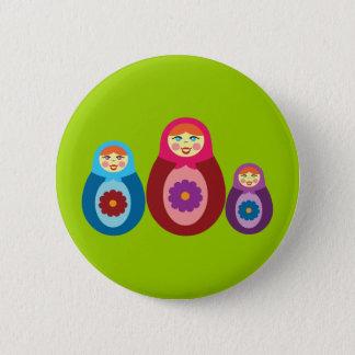 Matryoshka Dolls Button