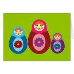 Matryoshka Dolls Card