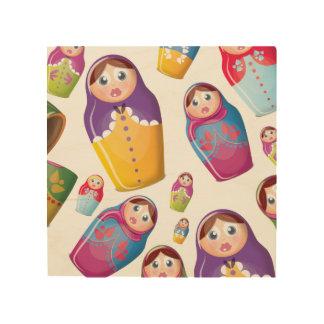 Matryoshka Dolls , Nesting Russian Dolls. Wood Wall Decor