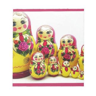 Matryoshka Dolls Notepad