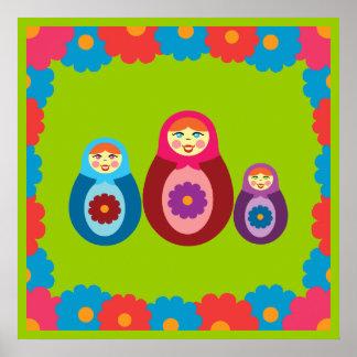 Matryoshka Dolls Print