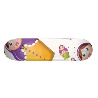 Matryoshka dolls skateboard