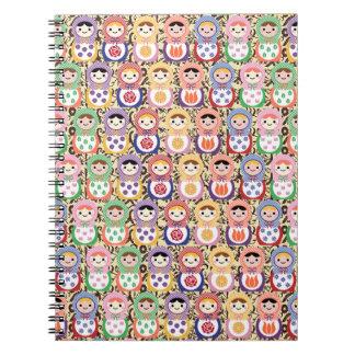 Matryoshka Dolls Spiral Notebook