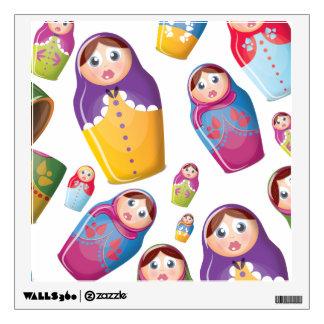 Matryoshka dolls wall decal