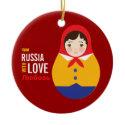 Matryoshka From Russia With Love Adoption Keepsake Ornament