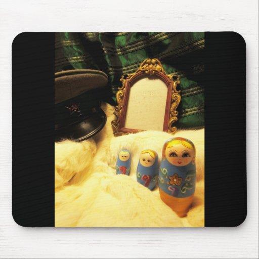 matryoshka nesting doll russia film ussr mouse pad