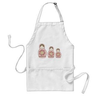 matryoshka nesting dolls apron