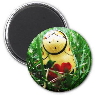 Matryoshka or Nesting Doll 2 Inch Round Magnet