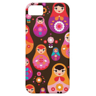 Matryoshka russian doll pattern illustration case