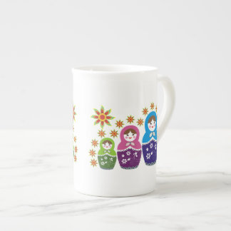 Matryoshka Russian dolls & sunflowers custom Tea Cup
