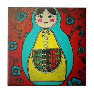 matryoshka russian nesting doll ceramic tile