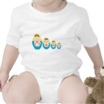 Matryoshka Russian Nesting Dolls Baby Bodysuits