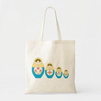 Matryoshka Russian Nesting Dolls Budget Tote Bag