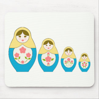Matryoshka Russian Nesting Dolls Mouse Pad
