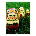 Matryoshka Ukrainian Folk Art Postcards