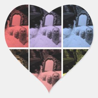 matryoshka ussr russia film pillow heart sticker