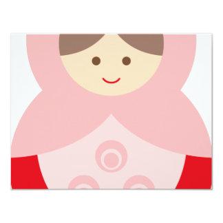 MatryoshkaA13 4.25x5.5 Paper Invitation Card