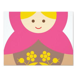 MatryoshkaA16 4.25x5.5 Paper Invitation Card