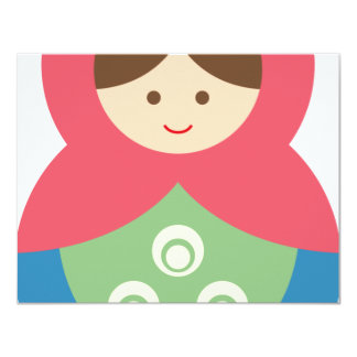 MatryoshkaA19 4.25x5.5 Paper Invitation Card