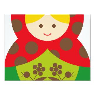 MatryoshkaA20 4.25x5.5 Paper Invitation Card