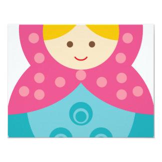 MatryoshkaA2 4.25x5.5 Paper Invitation Card