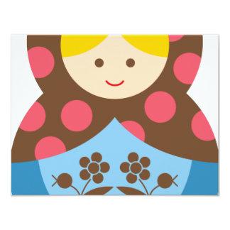 MatryoshkaA5 4.25x5.5 Paper Invitation Card