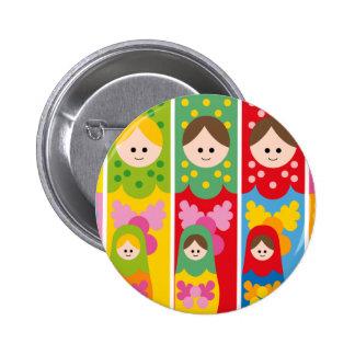 MatryoshkaBookmark Pin Redondo De 2 Pulgadas