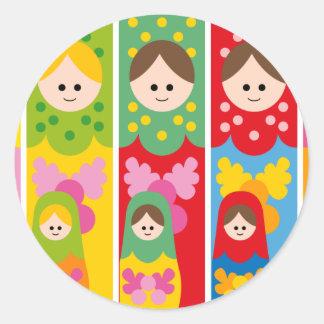 MatryoshkaBookmark Round Sticker