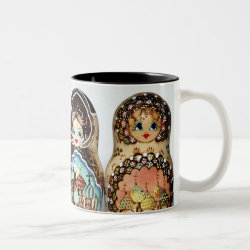 Matryoshkas Two-Tone Coffee Coffee Mug