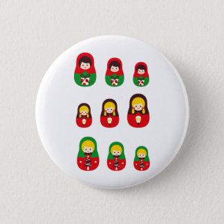 MatryoshlaXmas5 Pinback Button