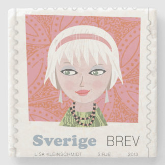 Mats with domestic stamp stone coaster