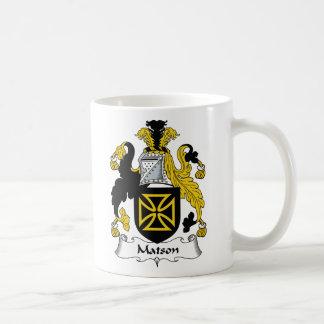 Matson Family Crest Classic White Coffee Mug