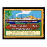 Matson Lines Poster Stamp circa 1915 Postcard