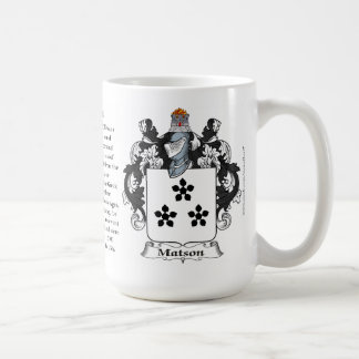 Matson, the Origin, the Meaning and the Crest Coffee Mug