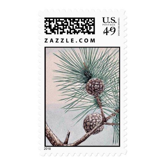 Matsu pine / Megata Ukiyo-e. Postage