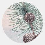 Matsu pine / Megata Ukiyo-e. Stickers