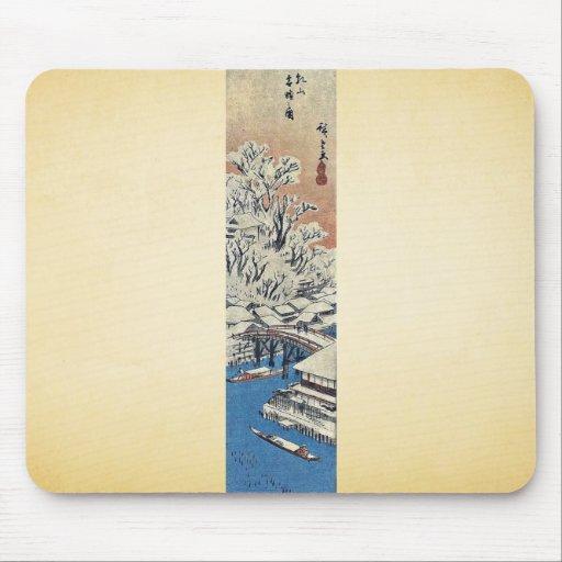 Matsuchiyama, después de la nieve por Ando, Hirosh Alfombrillas De Raton