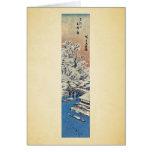 Matsuchiyama, después de la nieve por Ando, Hirosh Tarjetón