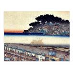 Matsuchiyama por Ando, Hiroshige Ukiyoe Postales