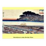 Matsuchiyama por Ando, Hiroshige Ukiyoe Tarjeta Postal