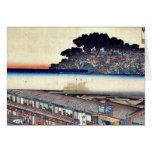 Matsuchiyama por Ando, Hiroshige Ukiyoe Tarjetas