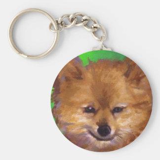 Matsuda's Kaki Basic Round Button Keychain