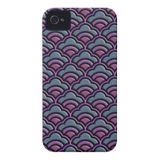 Matsukata waves japanese textile pattern iPhone 4 Case-Mate case