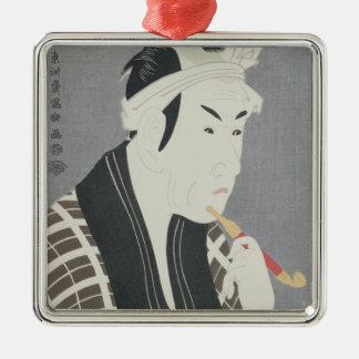Matsumo Koshiro IV in the Role of Gorebei Square Metal Christmas Ornament