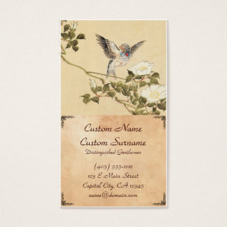 Matsumoto Keibun Bird and Flower Album Zebra Finch Business Card
