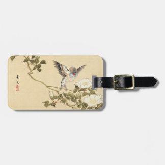 Matsumoto Keibun Bird and Flower Album Zebra Finch Luggage Tag